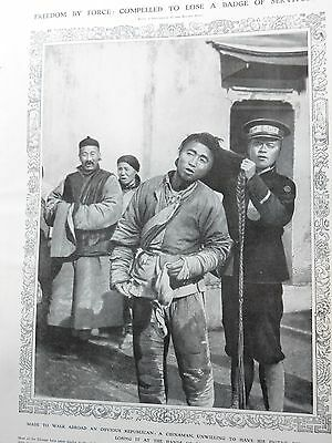 1912-ILLUSTRATED LONDON NEWS- Chinese Pigtail Outlawed,Princess Patricia,Beirut