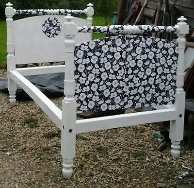 Vintage wooden french bed ( restoration project ) 4ft