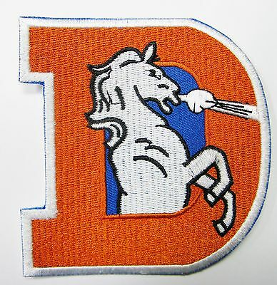 Lot Of (1) Nfl Denver Broncos Big (D) Embroidered Patch Iron-On (Type B)  # 21