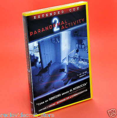 PARANORMAL ACTIVITY 2 EXTENDED CUT DVD 2 versioni