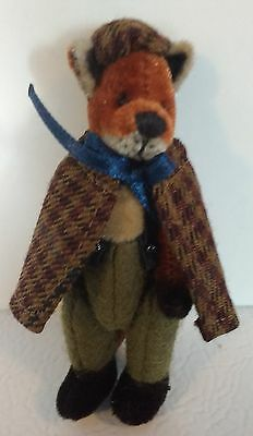 NEW GANZ Miniature FRASER FOX Cottage Collectibles Jointed  Retired