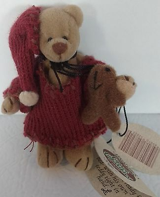 NEW GANZ Miniature Hugs Bear Cottage Collectibles Jointed
