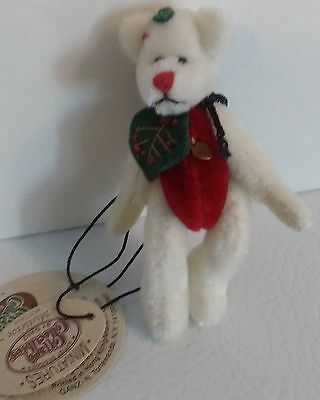 NEW GANZ Miniature Mistletoe Bear Cottage Collectibles Jointed