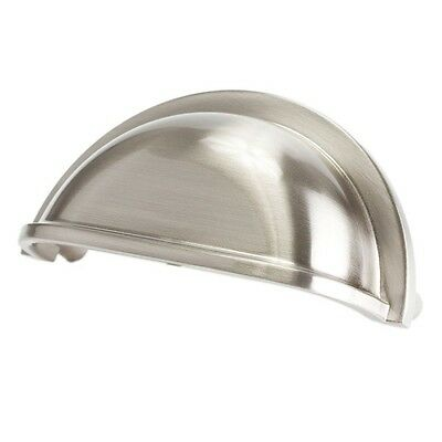 Satin Nickel Cabinet Drawer Bin Cup Pull Cabinet Hardware