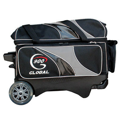 Bowling Ball Roller 900 Global 2-Ball Deluxe black silver