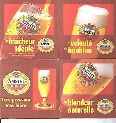 Bière AMSTEL Collection 4x OLD Sous Bock Beer Coaster Mat Bierdeckel