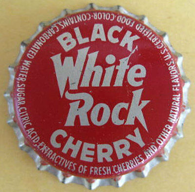 WHITE ROCK BLACK CHERRY Cork-lined Soda CROWN, Bottle CAP, W.R. Bottling, OREGON