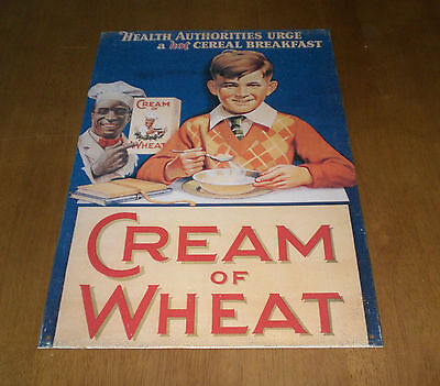 Cream Of Wheat Tin Sign - Health Authorities Urge A Hot Cereal Breakfast