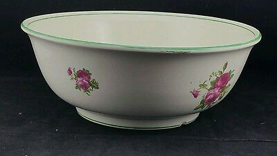 """Large Transferware 14"""" Toilet / Wash Bowl - Barkers & Kent Decorated with Roses"""