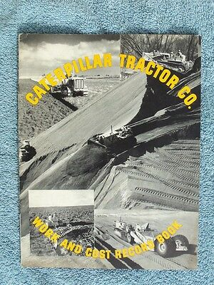 CATERPILLAR Diesel Dozer WORK & COST RECORD BOOK Vintage CAT envelope