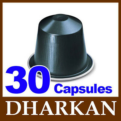 30 Nespresso DHARKAN Coffee Capsules / Pods *NEW SEALED FRESH*