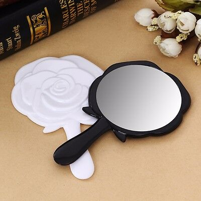 Antique Style Floral Rosey Vintage Mirror Round Handheld Makeup Beauty Dresser
