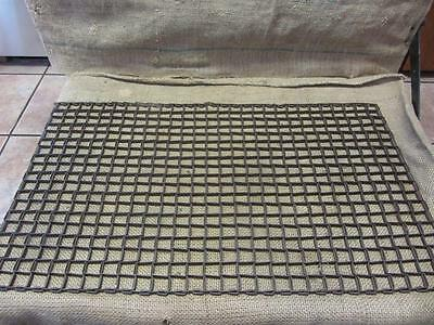Vintage Metal Linked Floor Mat > Unique Design > Antique Old Welcome RARE! 9468