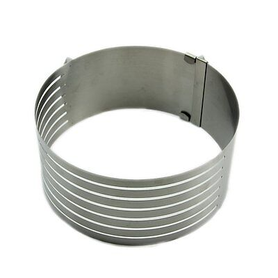 Adjustable Stainless Scalable Mousse Cake Ring Layer Slicer Cutter Mould  WW