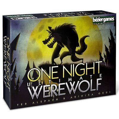 One Night Ultimate Werewolf Card Game Party Night