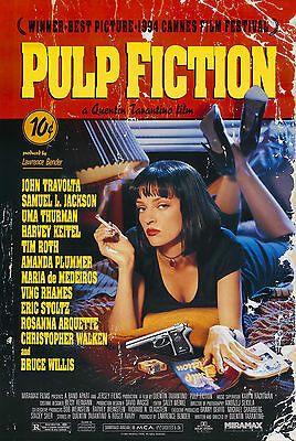 Pulp Fiction (1994) Movie Poster | 6 Sizes | Tarantino Director's Cut dvd bluray
