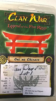 WOTC AEG Clan War Earth Oni no Chizaro Legend of the five rings