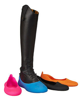 LeMieux Mouillere GALOSHES Waterproof Over Shoes Boots Black/Blue/Orange/Pink