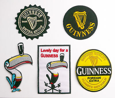 GUINNESS - Iron-On PATCH Series - Singles & Sets. UK Stock, Fast Free Post!