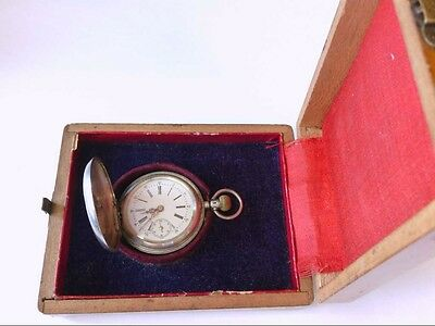 Ant/Vtg Remontoir Cylindre 10 Rubis .875 Silver DH Pocket Watch. PARTS/RESTO