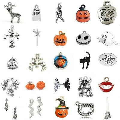 Tibetan Silver Charms Halloween Gothic Harry Potter Pendants Enamel