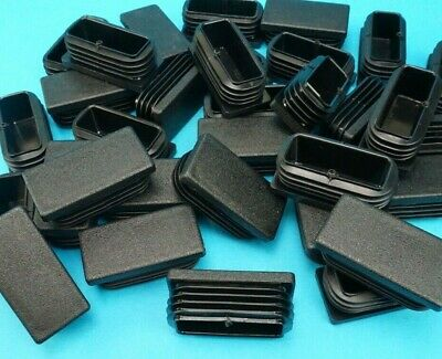 RECTANGLE Plastic End Blanking Caps Tube Ribbed Oblong Bung Inserts - Trailer