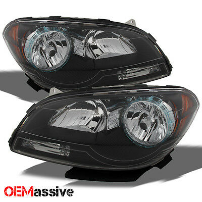 08-12 Chevy Malibu Replacement Black Headlights lamps Left+Right 08 09 10 11 12