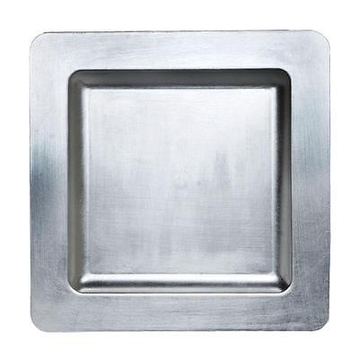 """11.5"""" Square Rimmed Charger Plates - Case of 24pcs - Silver"""