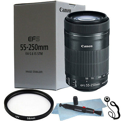 Canon EF-S 55-250mm f/4-5.6 IS STM Lens + 58mm Accessory Kit