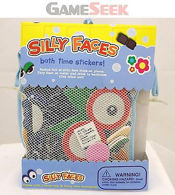 Silly Faces Bath Stickers - Educational Creative Play Brand New Free Delivery