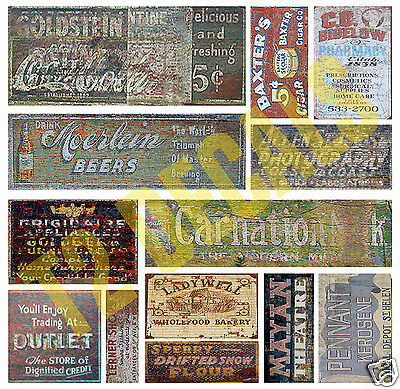 O Scale Ghost Sign Decals #4 Weather Your Structures!