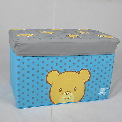 Canvas KIDS TOY Storage Chair Bin Box Ottoman  Foot Stool Container Foldable NEW