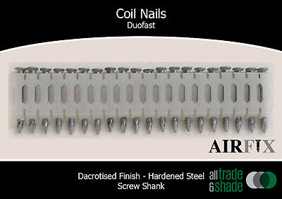 Coil Nails - Duofast - Dacrotised - Hardened - Length: 38mm x 2.7mm - Box: 7,200