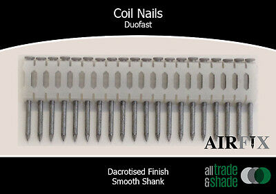 Coil Nails - Duofast - Dacrotised - Smooth - Length: 65mm x 2.5mm - Box: 7,200