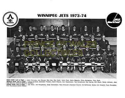 1974 Winnipeg Jets Team Photo 8X10