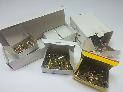 LOT of Various Brass Colored Paper Fasteners, 10 Boxes of 100 Small 10 mm Size