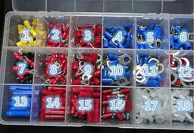 18Types Spade Crimp Wire Connector Assorted Kit With A Plastic Box Better US17