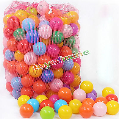 "1.57"" 50 pcs Colorful Fun Ball Soft Plastic Ocean Ball Baby Kid Toy Swim Pit Toy"