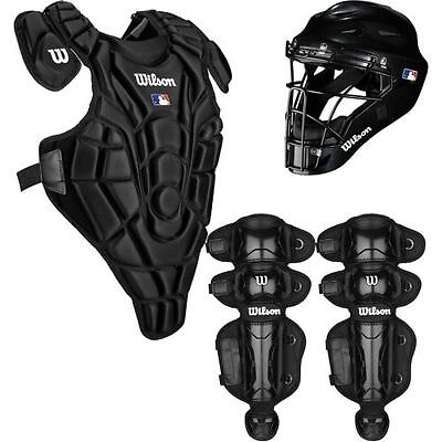Wilson Youth EZ Gear Catcher's Kit, Large/X-Large/7-12 Years, Black