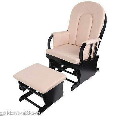 Brand New Baby Glider Chair Rocking Chair Breast Feeding Chair with Ottoman Wood