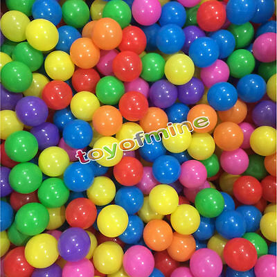 """1.57"""" 10/20/50 PCS Secure Baby Kid Pit Toy Swim Colorful Soft Plastic Ocean Ball"""