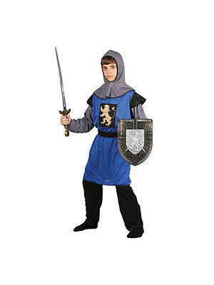 Child 8-10 years Medieval Knight Party Fancy Dress Costume Kids Boys Male
