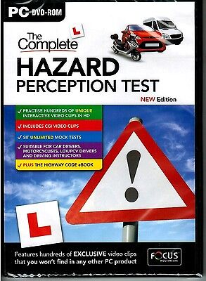 The Complete Hazard Perception Test For PC (DVD-ROM) NEW & SEALED- @fc hzrd