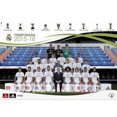 Official Licensed Football Product Real Madrid Poster Squad 66 Team Players New
