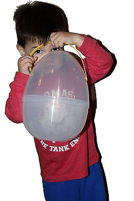 """Large 10"""" Easter Egg w/ removable plastic handle   Perfect for Playdoh Surprise"""