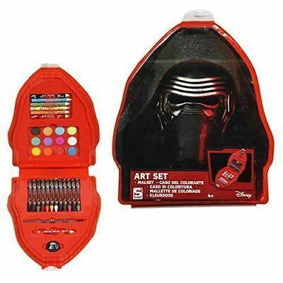 Star Wars Episode 7 Art Case Set Painting Crayons Colour Pencils Kids Fun Crafts
