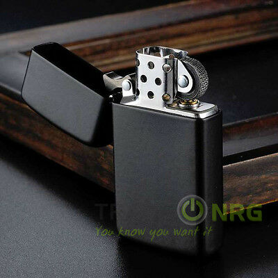 Zippo 1618 Black Metal Cigarette Cigar Fuel Lighter Windproof Flame Refillable