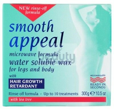 Smooth Appeal Microwaveable Formula Water Soluble Wax For Legs and Body 300g