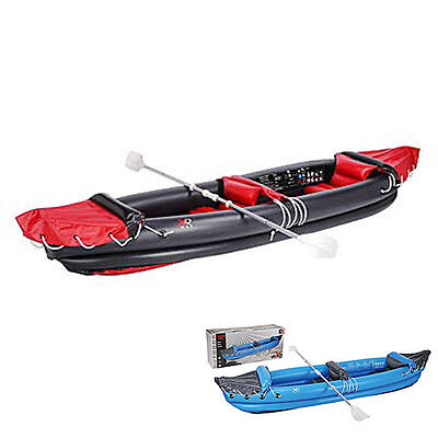 Inflatable Kayak Canoe 2 Person + Paddles GREAT FUN New  XQ Max (Black Diamond)