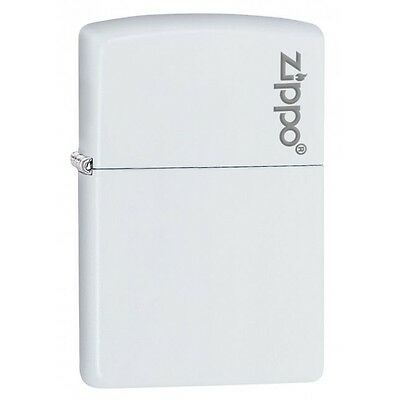 Zippo 214ZL White Matte w/Zippo Logo Windproof Lighter NEW LIFETIME WARRANTY USA